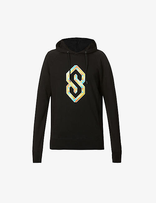 THE S THING: C.S Weiler Gold graphic-print organic cotton-jersey hoody
