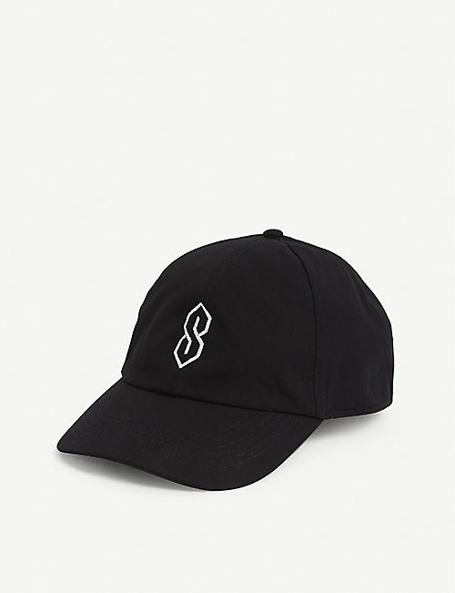 THE S THING: Logo-shaped canvas baseball cap