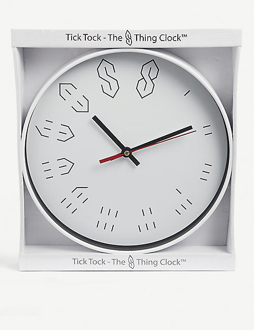 THE S THING: Logo-printed metal clock 29.5cm