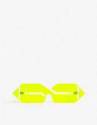 THE S THING: HUNI SHADES by Mona Thomas logo-shaped sunglasses