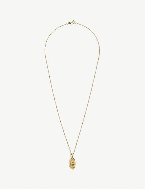 HERMINA ATHENS: Ammos gold-plated sterling silver necklace