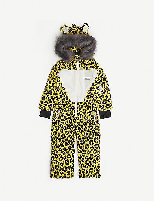 DINOSKI: Leo leopard-print shell snowsuit 2-7 years