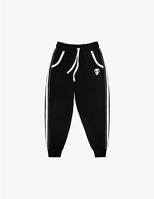 DINOSKI: Patch the Panda cotton-blend jogging bottoms 2-8 years
