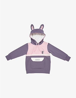 DINOSKI: Hop the Bunny cotton-blend hoody 2-8 years