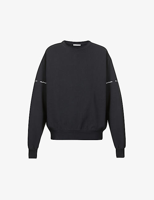 ACNE STUDIOS: Flynn branded cotton-jersey jumper