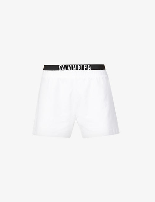 CALVIN KLEIN: Branded mid-rise cotton shorts