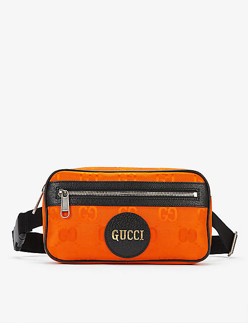 GUCCI: Logo-print recycled-nylon belt bag