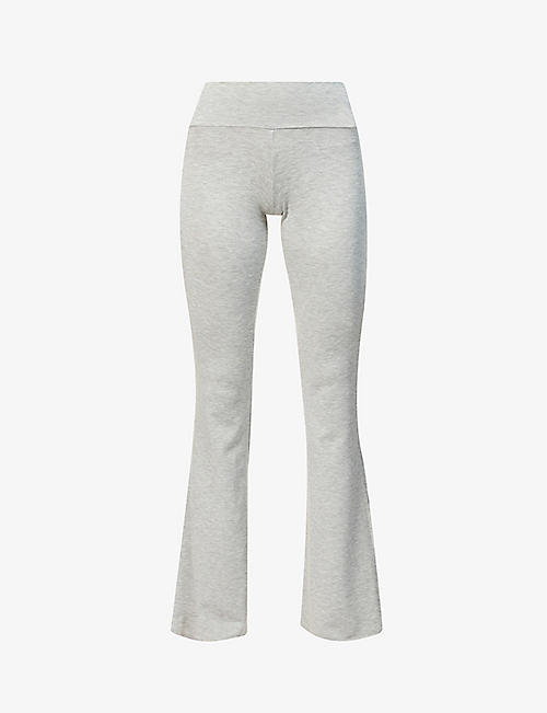 BLEUSALT: The Kaia relaxed-fit mid-rise stretch-jersey trousers