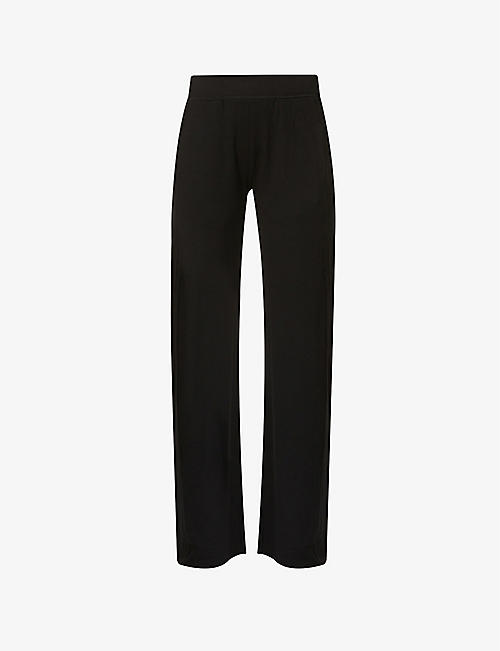 BLEUSALT: The Cindy relaxed-fit mid-rise stretch-jersey trousers