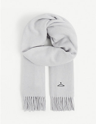HOLZWEILER: Dipper logo-embroidered wool-cashmere blend scarf