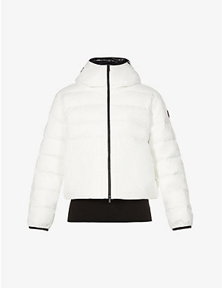 MONCLER: Anwar funnel-neck stretch-shell and down jacket