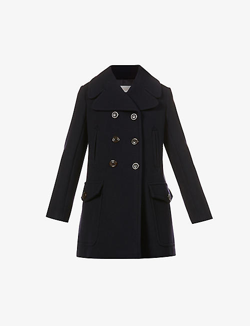SEE BY CHLOE: Double-breasted wool-blend coat