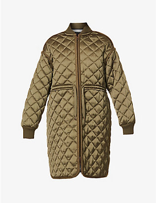 SEE BY CHLOE: Quilted woven coat