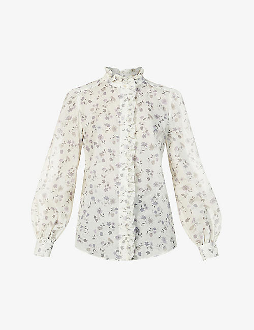 SEE BY CHLOE: Floral-print cotton-poplin shirt