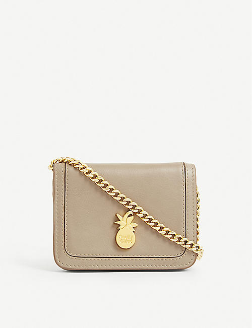 SEE BY CHLOE: Pineapple mini leather shoulder bag