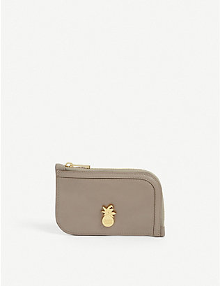 SEE BY CHLOE: Pineapple leather card holder