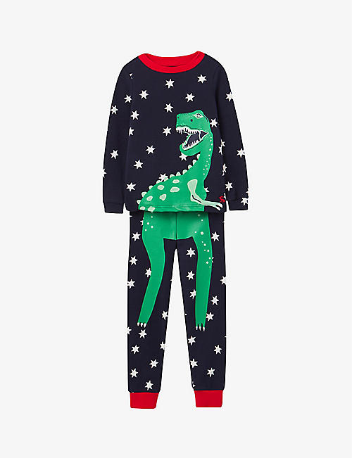 JOULES: Snooze cotton-blend pyjamas 3-10 years