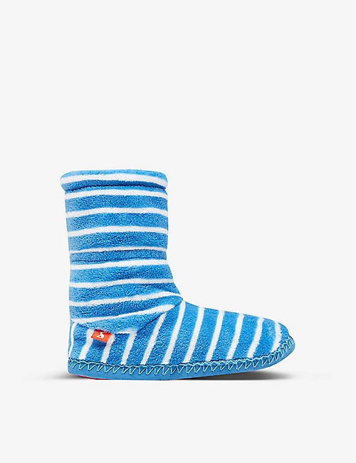 JOULES: Striped woven slippers 4-10 years