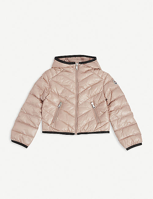 MONCLER: Cexing logo-patch padded shell jacket 4-14 years