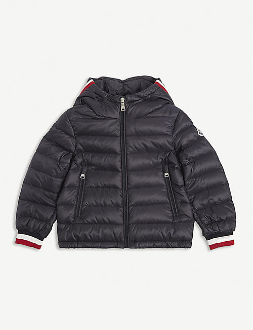 MONCLER: Giroux hooded shell jacket 4-14 years