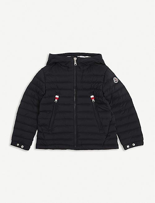 MONCLER: Sill logo-embossed nylon puffer jacket 4-14 years