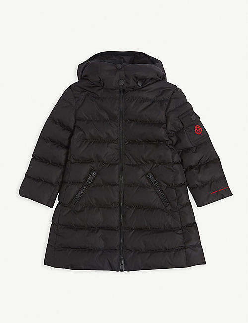 MONCLER: Logo-embossed padded jacket 4-14 years
