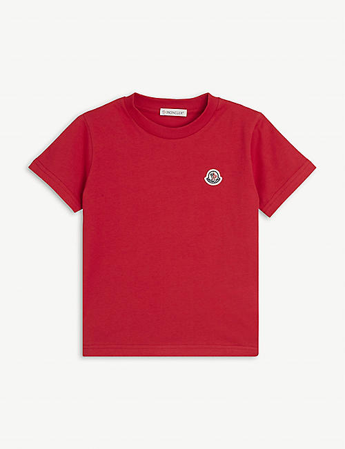 MONCLER: Maglia logo-embroidered cotton T-shirt 4-14 years