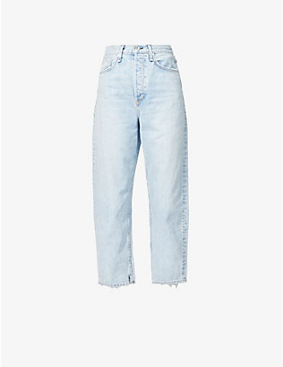 RAG & BONE: 90s tapered high-rise stretch-denim jeans