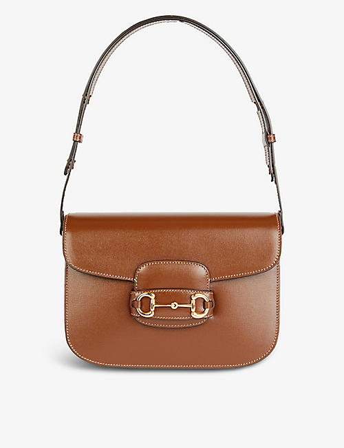 GUCCI: 1955 Horsebit leather shoulder bag