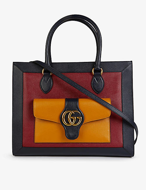 GUCCI: Dhalia medium leather tote bag