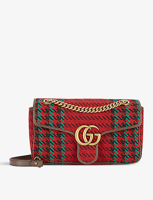 GUCCI: Marmont wool-blend shoulder bag