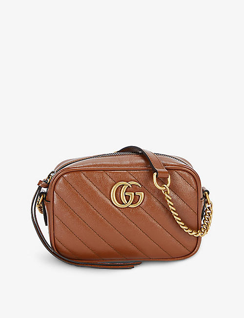 GUCCI: Marmont mini leather shoulder bag