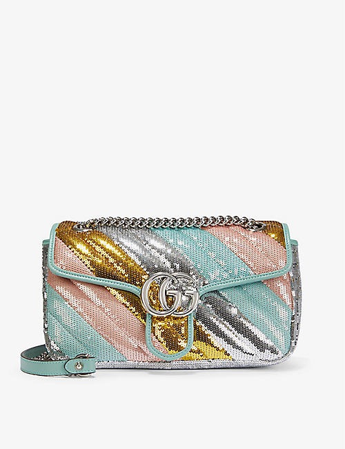 GUCCI: Marmont sequin-embellished shoulder bag