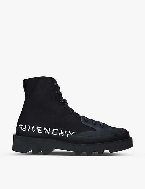 GIVENCHY: Logo-print woven trainers