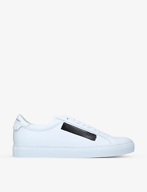 GIVENCHY: Urban Street brand-patch leather low-top trainers