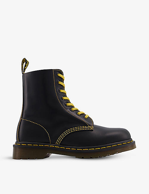 DR. MARTENS: 1460 Pascal Contrast leather ankle boots