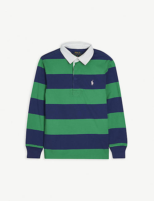 RALPH LAUREN: Logo-embossed cotton rugby shirt 2-14 years