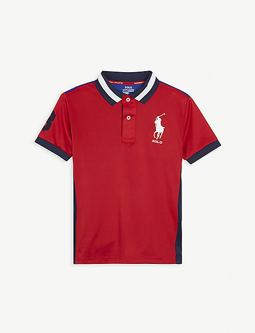 RALPH LAUREN: Pony-embroidered woven polo shirt 4-11 years