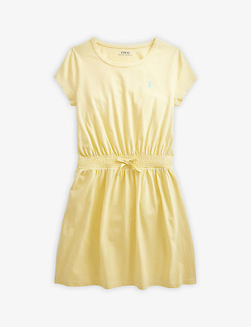 RALPH LAUREN: Logo-embroidered cotton-jersey mini dress 2-9 years