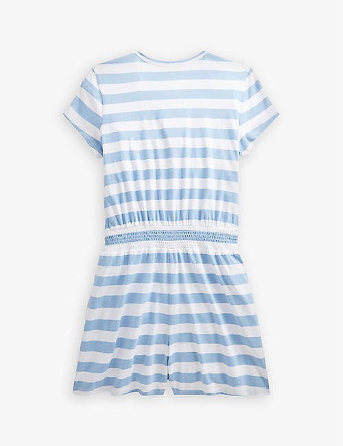 RALPH LAUREN: Striped cotton playsuit 2-9 years