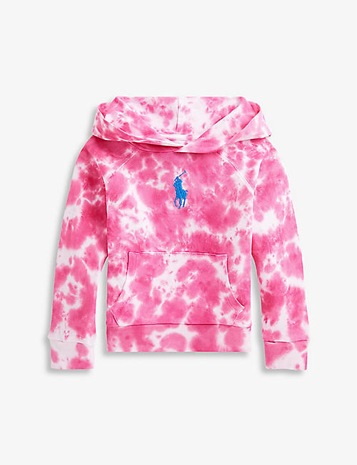 RALPH LAUREN: Tie-dye logo-embroidered cotton hoody 2-14 years