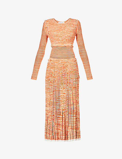 CHRISTOPHER ESBER: Deconstruct stretch-knit midi dress