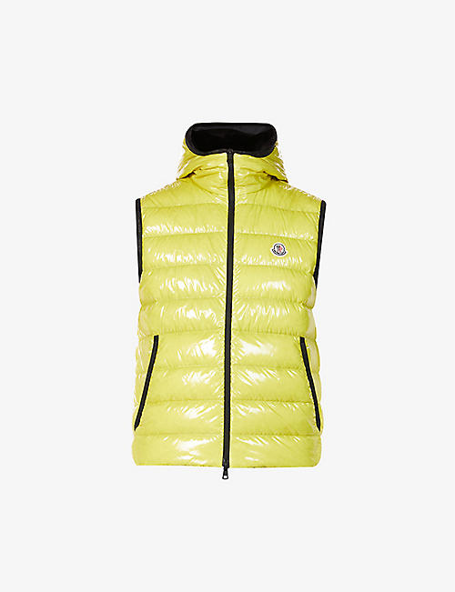 MONCLER: Lappe padded quilted shell-down hooded gilet