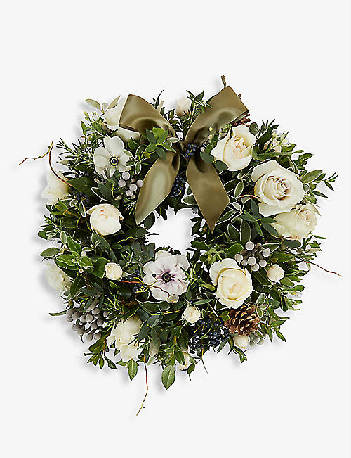 THE REAL FLOWER COMPANY: Nordic Rose door wreath