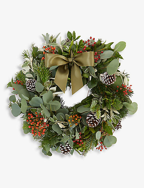 THE REAL FLOWER COMPANY: Berry and Herb and Moss door wreath