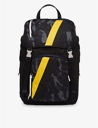 RESELLFRIDGES: Pre-loved Prada Tessuto camouflage-print canvas backpack