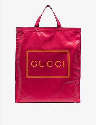 RESELLFRIDGES: Pre-loved Gucci medium cotton-canvas tote bag