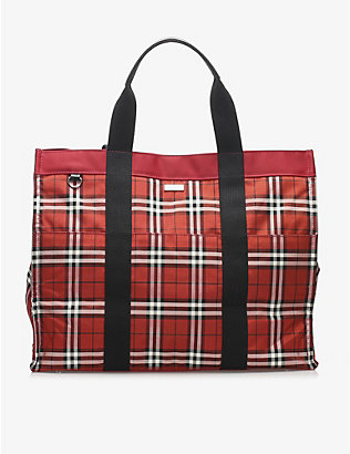 RESELLFRIDGES: Pre-loved Burberry House Check nylon tote bag