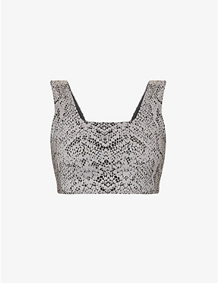 VARLEY: Delta leopard-print stretch-woven sports bra
