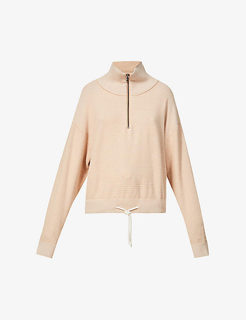 VARLEY: Buckingham high-neck cotton-knit top
